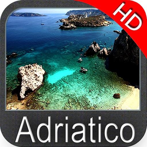 Adriatic sea GPS HD nautical charts fishing map