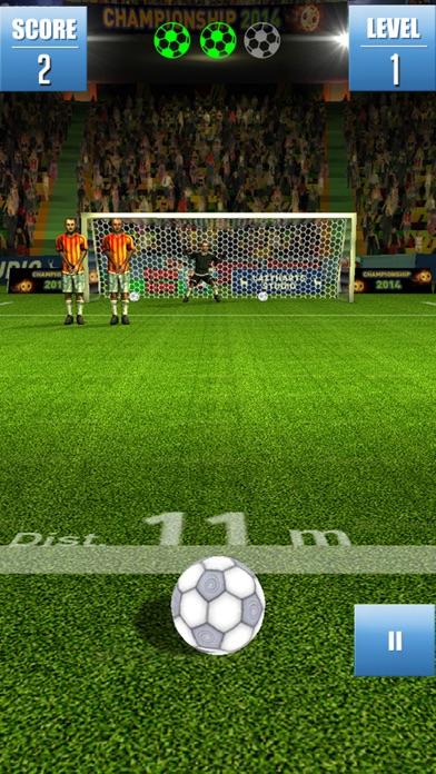 Fußball Freistoß Weltmeisterschaft - Fußball-SpielScreenshot von 3