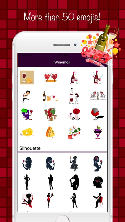 Wineemoji - Emoji & Stickers screenshot-3