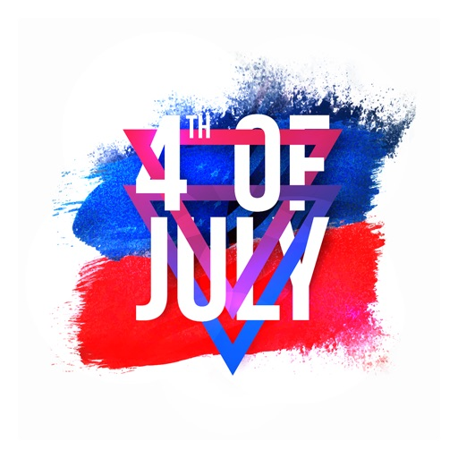 4th of July - Watercolor Independence Day Stickers