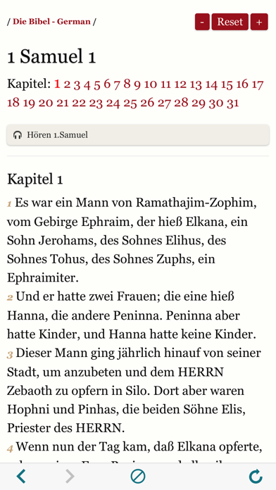German Holy Bible Audio and Text - Luther Version screenshot three