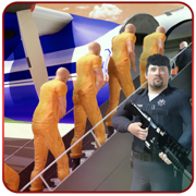 监狱犯罪分子运输平面 - 履行你的警察职务,也是一个惊人的囚犯运输游戏的空军飞行员