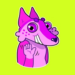 Pink Gazelle Stickers for iMessage