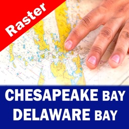 CHESAPEAKE & DELAWARE BAYS - RASTER NAUTICAL CHART