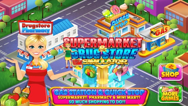 Drugstore Supermarket: Kids Grocery Store Games 4+
