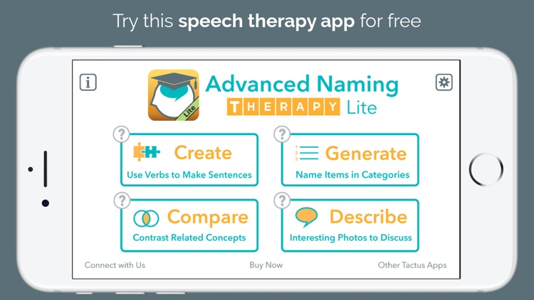 Advanced Naming Therapy Lite - Aphasia & Cognition screenshot-0