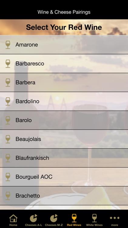 Wine & Cheese Pairings screenshot-3