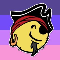 A Pirate's Life Emoji Stickers