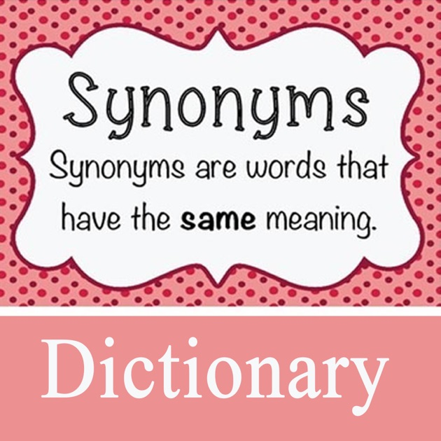 Synonym dictionary definitions terms on the app store m4hsunfo