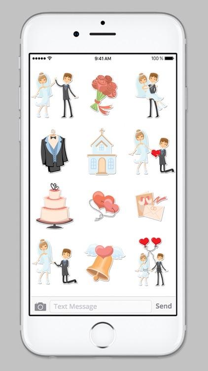 Bride and Groom Wedding Sticker Pack