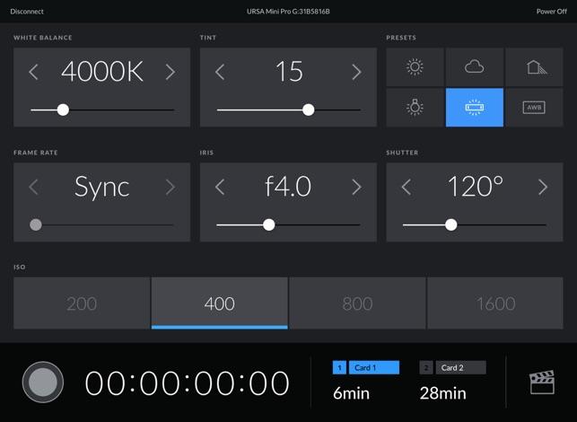 Blackmagic Camera Control on the App Store
