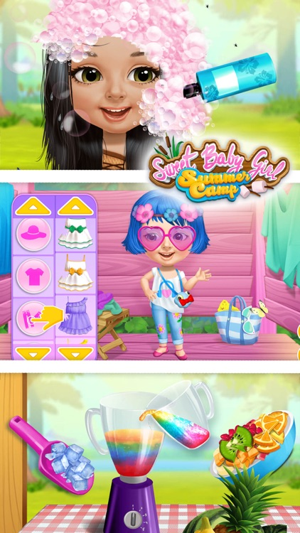 Sweet Baby Girl Summer Camp - Kids Camping Club screenshot-4