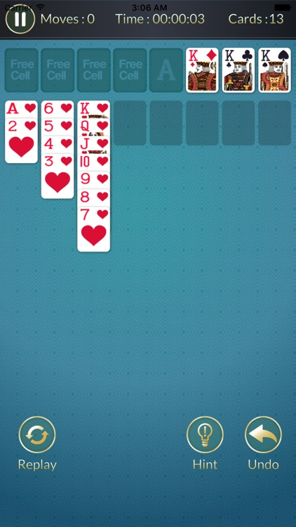 Freecell - Solitaire card game puzzle