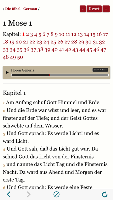 German Holy Bible Audio and Text - Luther Version screenshot two