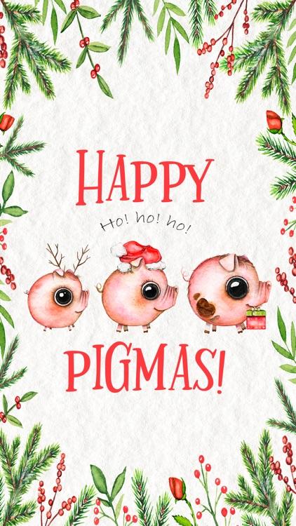 Happy Pigmas - Christmas Puns by Lidia