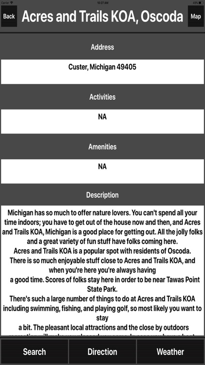 Michigan Camping Spots screenshot-1