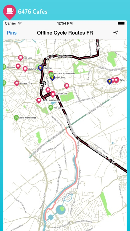 Offline Cycle Routes France screenshot-3