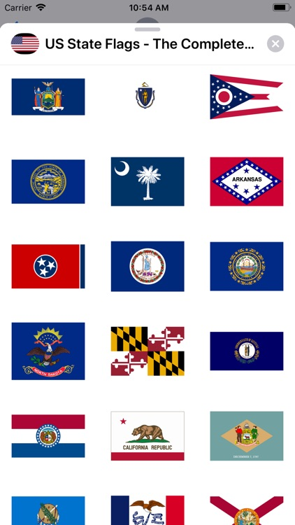 US State Flags Complete Set