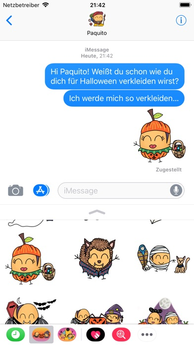 Paquitos Stickers: HalloweenScreenshot von 2