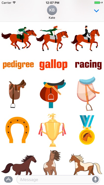 Horsesmoji Equestrian Stickers