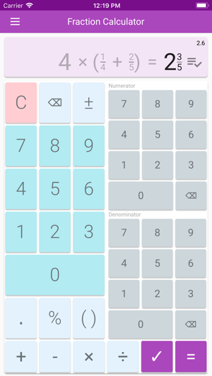 Fraction Calculator & Solution on the App Store