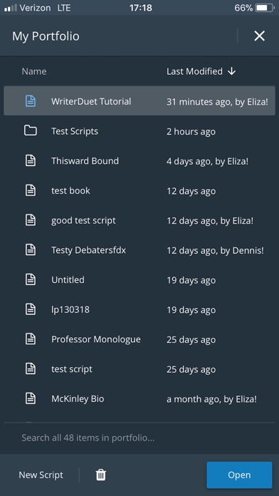 WriterDuet by WriterDuet Inc  (iOS, United Kingdom