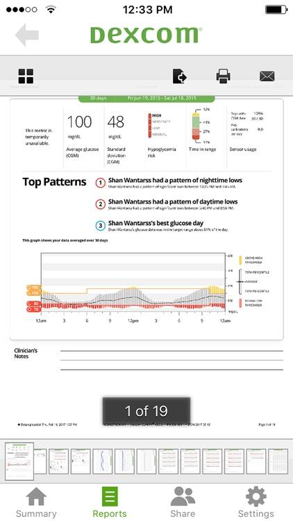 Dexcom CLARITY Reports screenshot-4