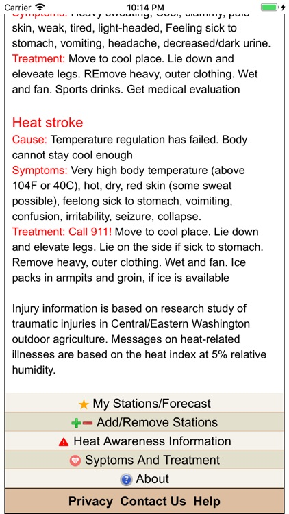AgWeatherNet Heat Stress