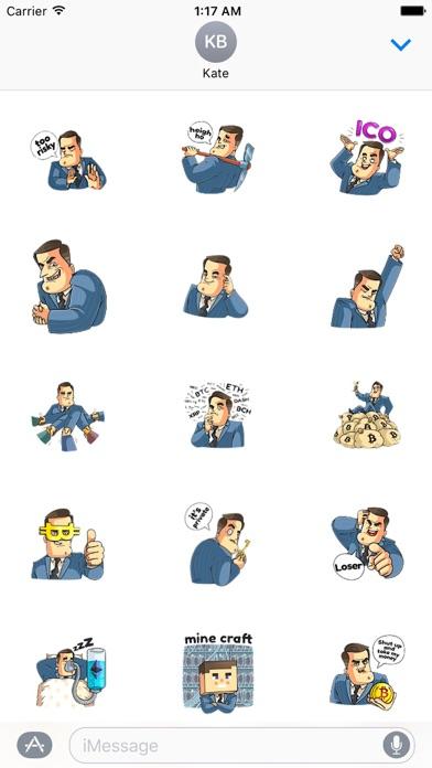 Mr. Trader CoinMoji Sticker screenshot 1