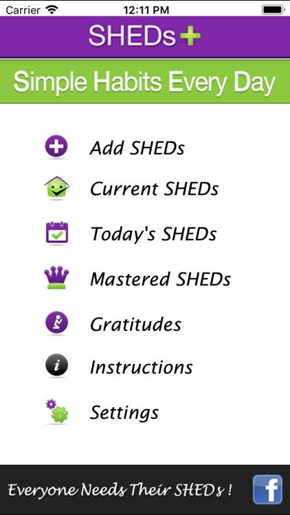 SHEDs+ - Simple Habits +