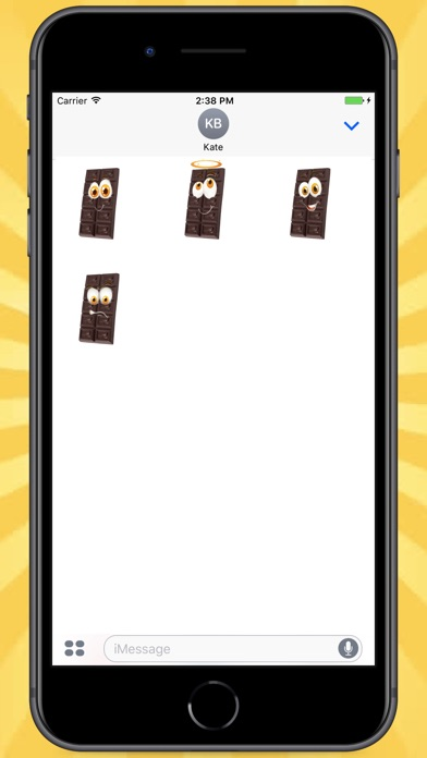 Screenshot for Emotional Chocolate Stickers in Colombia App Store