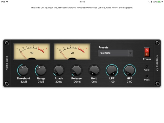 Noise Gate AUv3 Plugin screenshot 3