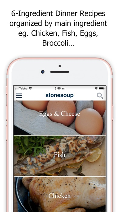 Screenshot for Stonesoup: 6-Ingredient Dinner in Germany App Store