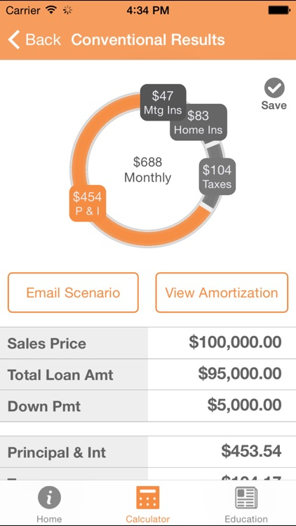 Embrace Mortgage Calculator
