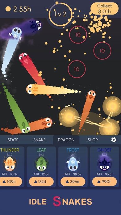 Idle Snakes-Control Balls Screenshot on iOS