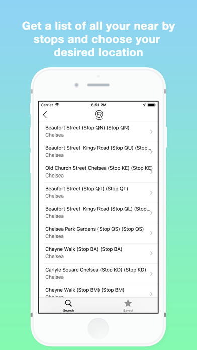 Next Bus - Live Bus Timetables screenshot two