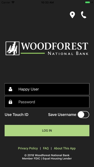 Woodforest Mobile Banking review screenshots
