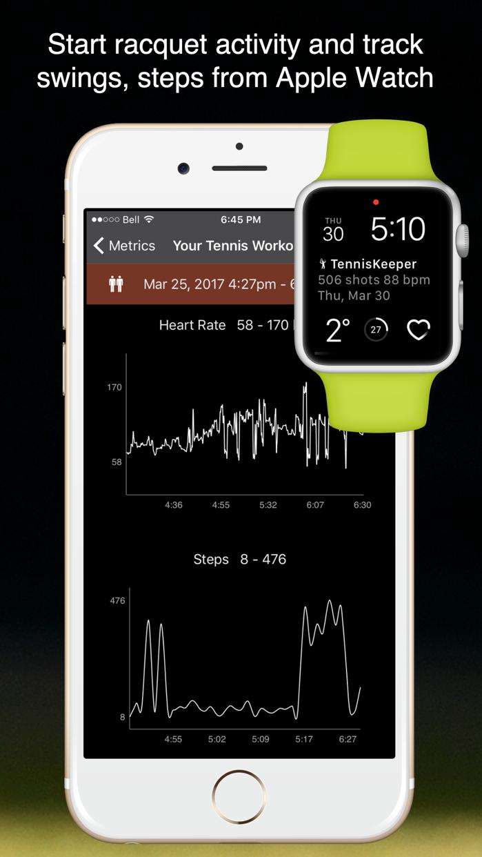 TennisKeeper: Swings & Scores Screenshot