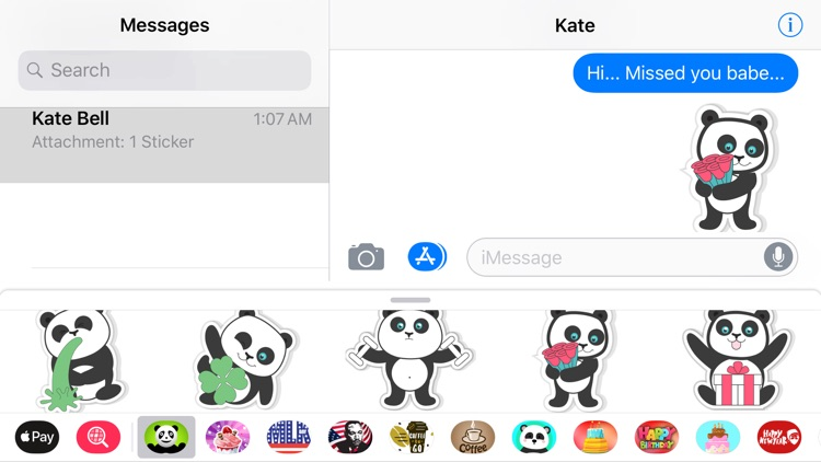 Pandamoji iMessage Sticker App