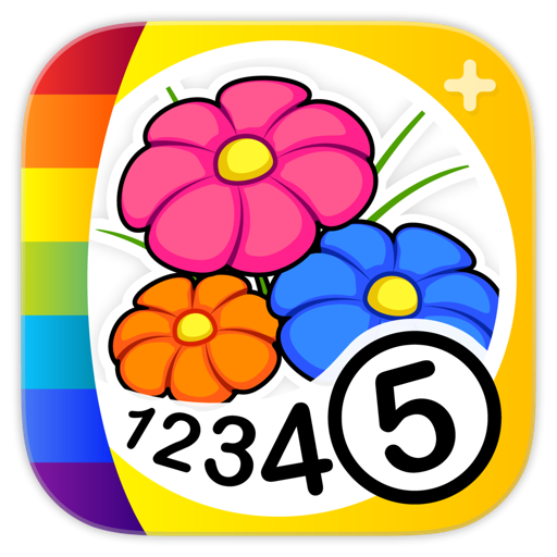 Color by Numbers - Flowers +