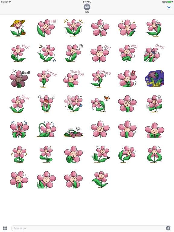 Beautiful Ms. Flower Sticker screenshot 4
