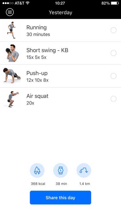 Burn2shape personal training screenshot-1