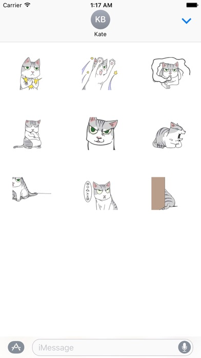 Animated Lonely Cat Stickers screenshot 2