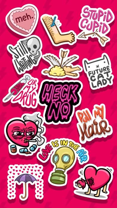 Love Hate Valentine's Stickerのスクリーンショット4