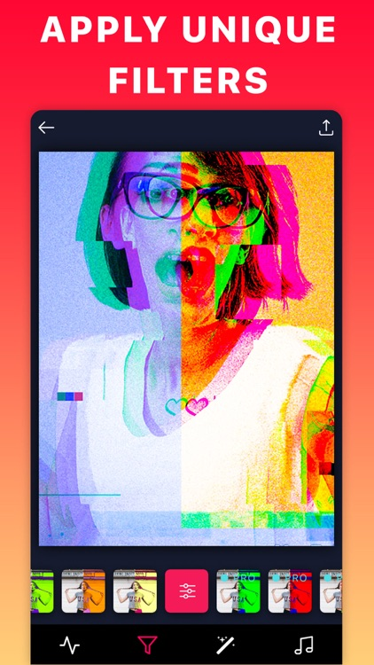 Glitch Aesthetic Video Filters