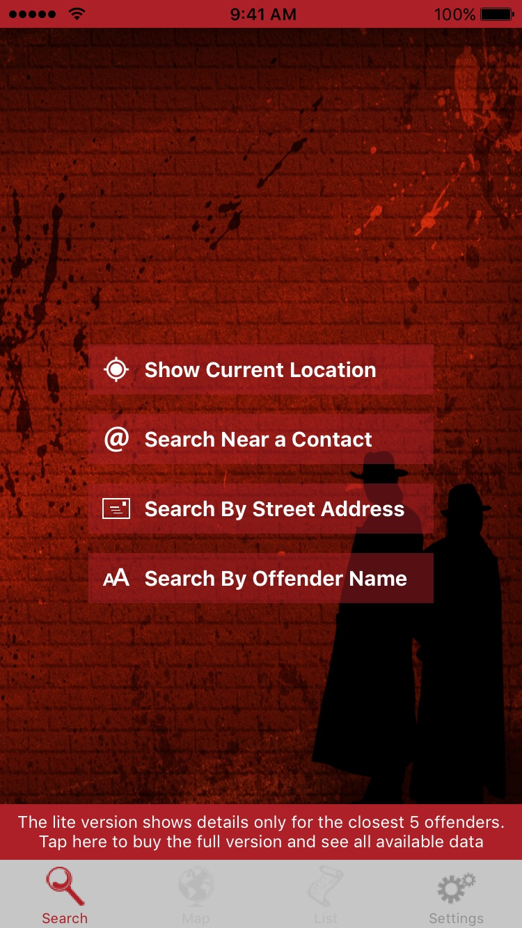 Sex Offenders Search Lite Screenshot