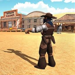 Western Cowboy Gun Shooter
