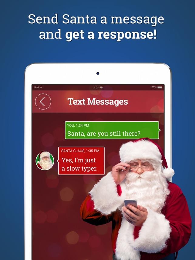 message from santa on the app store - Santa Santa Claus
