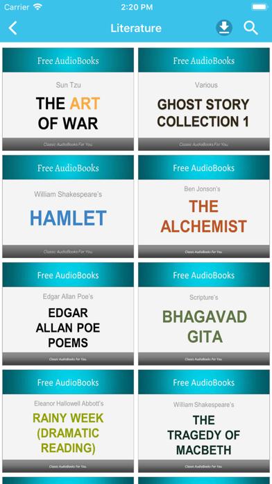 Literature Audiobooks screenshot one