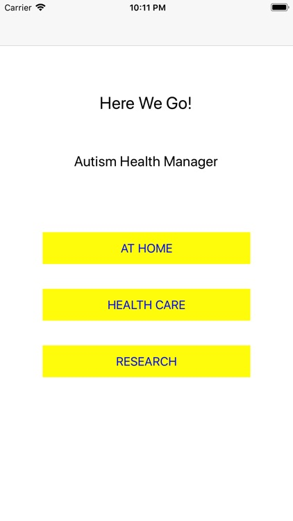 Autism: Healthcare Here we go!